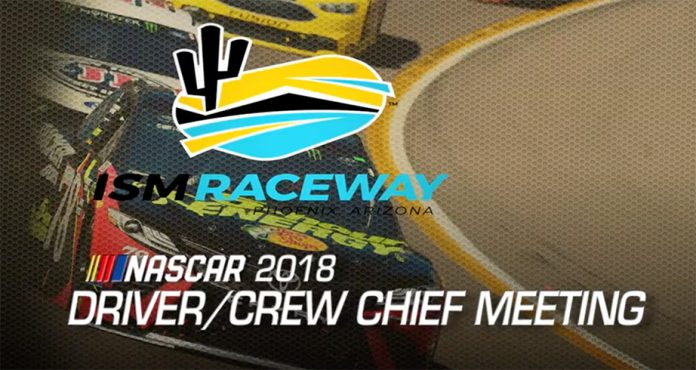 Watch: Driver meeting video from ISM Raceway