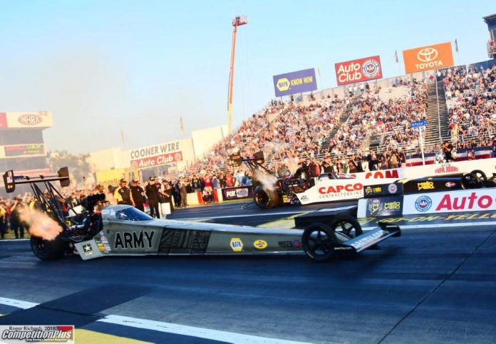 TOP FUEL CHAMPION TORRENCE HAS PERFECT DAY AT POMONA