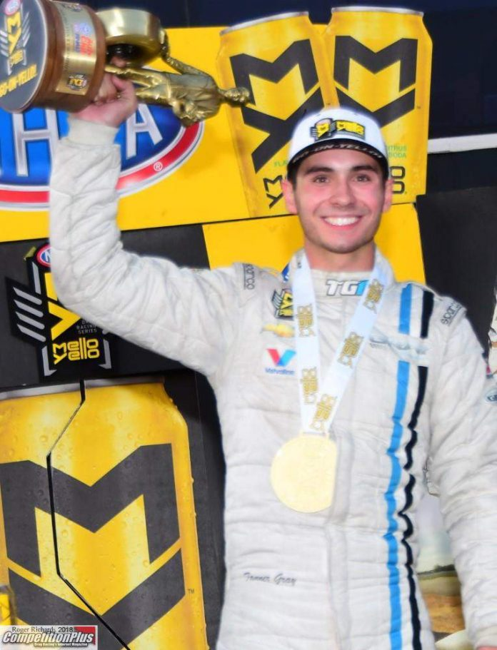 GRAY FINISHES NHRA CAREER ON TOP WITH WIN, CHAMPIONSHIP AT POMONA