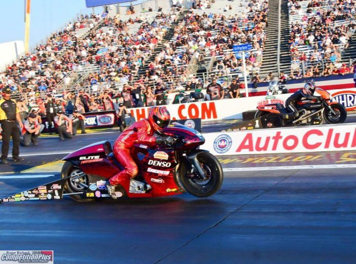 SMITH'S 46TH BIRTHDAY PRESENT: PRO STOCK MOTORCYCLE TITLE, EVENT VICTORY
