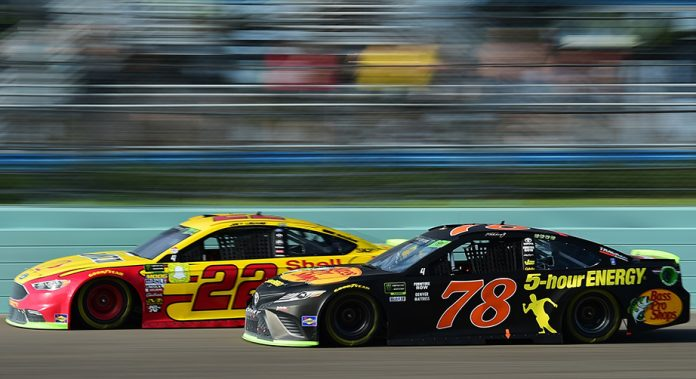 Logano and Truex race at Homestead