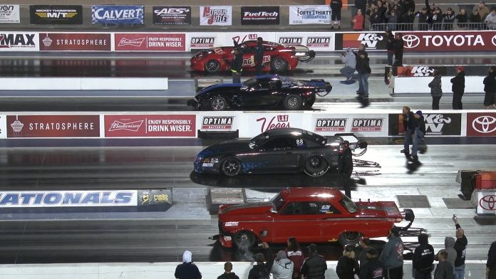 Four-Wide Grudge Race Goes Down In Las Vegas For $10,000!