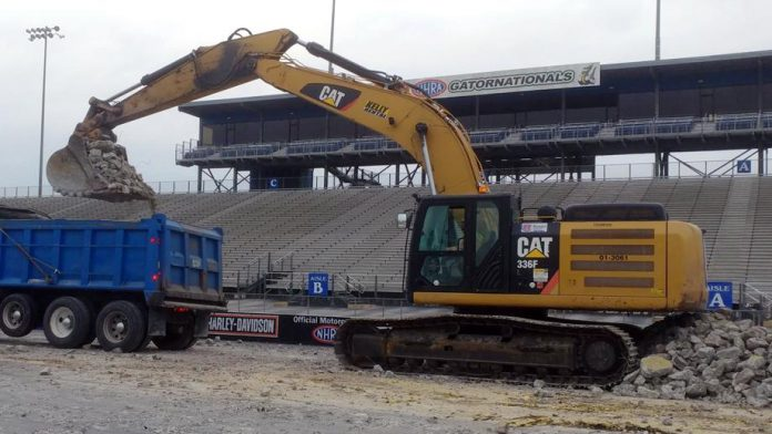 GAINESVILLE RACEWAY INSTALLING NEW RACING SURFACE