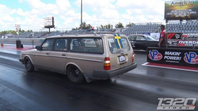 Street Legal Volvo Wagon Lays Down Eight Second Passes
