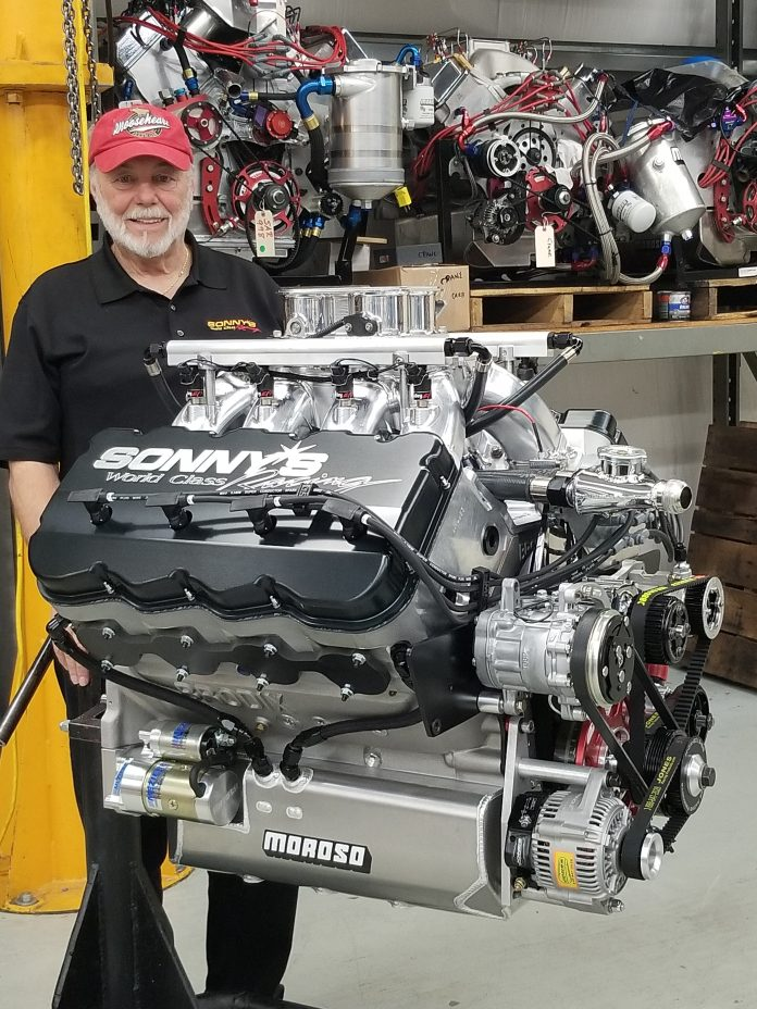 ENGINE BUILDER SONNY LEONARD BLESSED BY ENGINE SWEEPSTAKES FOR CHARITY EXPERIENCE