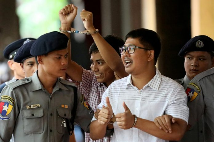 Myanmar court hears arguments in appeal case of jailed Reuters reporters