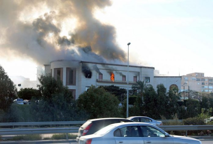 Three dead in suicide attack on Libyan foreign ministry