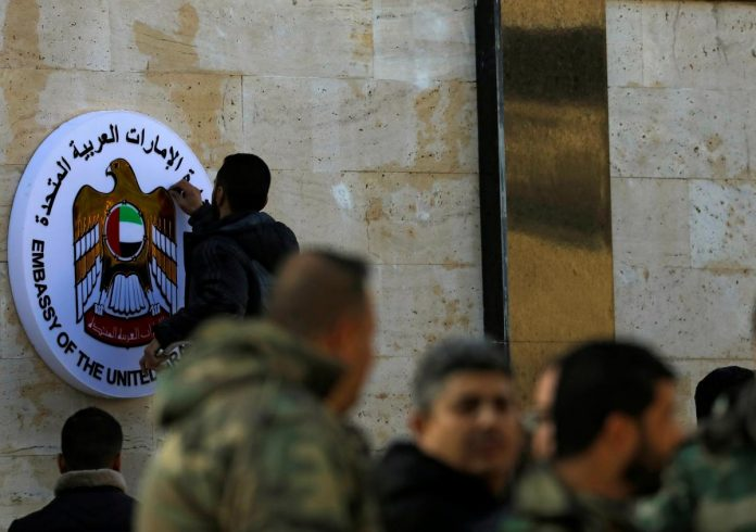 UAE reopens Syria embassy in boost for Assad