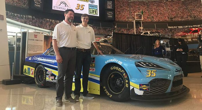 Joey Gase and the No. 35 Supra he