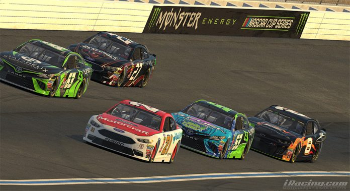 A shot of iRacing action.