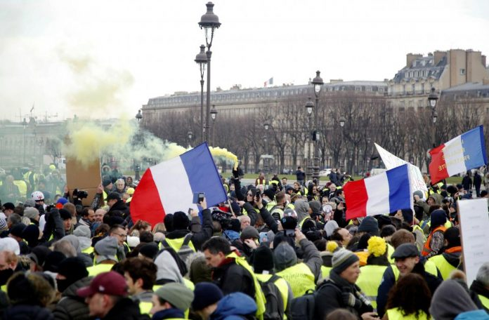 French 'Yellow Vests' gather in Paris for tenth weekend of protests