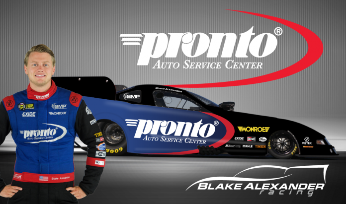 BLAKE ALEXANDER TO RETURN TO FUNNY CAR