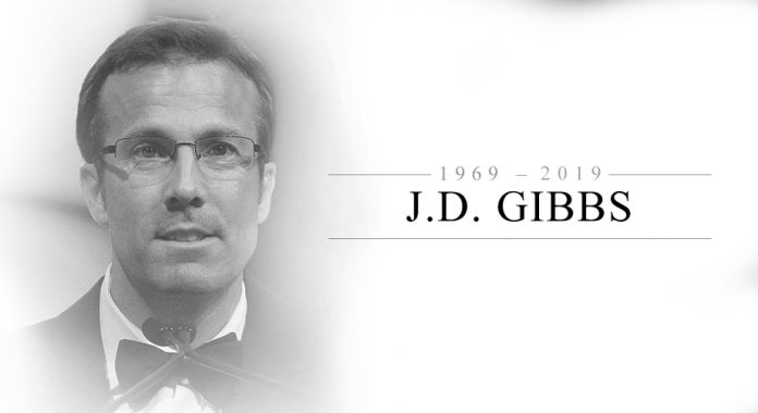 J.D. Gibbs remembered fondly at memorial service
