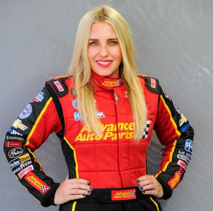 BRITTANY FORCE TO DRIVE ADVANCE AUTO PARTS TOP FUEL DRAGSTER