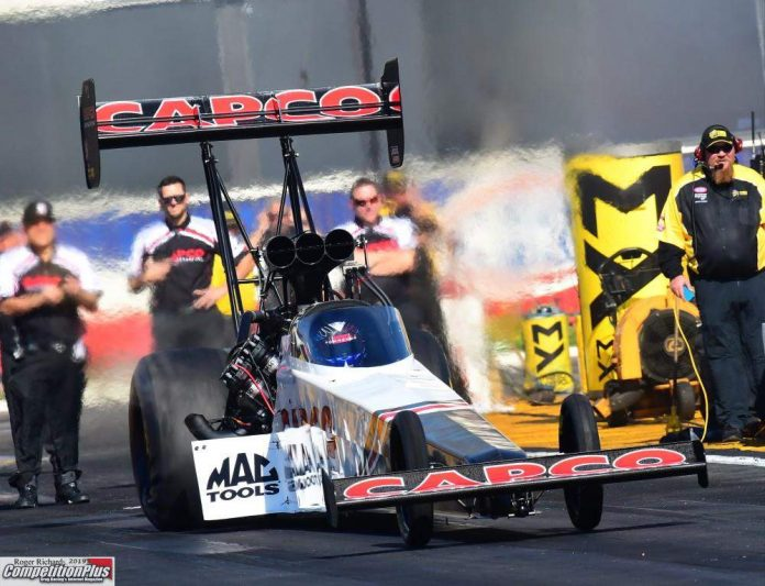 TORRENCE DOESN'T MISS A BEAT, PACES TOP FUEL FIELD ON FRIDAY