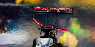 LOST: MIDDLE OF REAR WING FROM TOP FUEL DRAGSTER