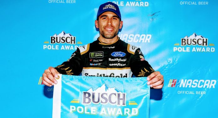 Aric Almirola wins the pole at Atlanta