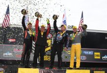 CRAMPTON, HIGHT, BUTNER AND HINES VICTORIOUS AT THE 50TH ANNUAL NHRA GATORNATIONALS