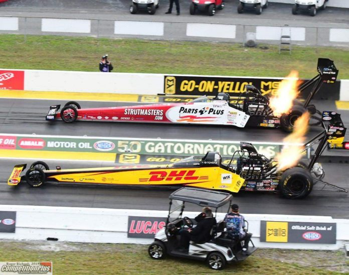 CRAMPTON CARVES TOP FUEL HISTORY OF HIS OWN AT 50TH GATORNATIONALS