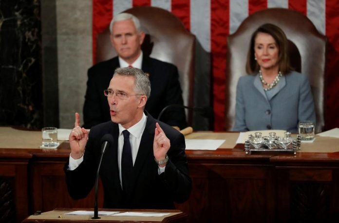 NATO chief warns of Russia threat, urges unity in U.S. address