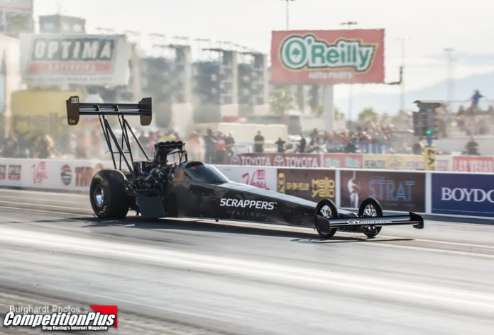 SALINAS LEADS TOP FUEL QUALIFYING AFTER FIRST DAY AT VEGAS