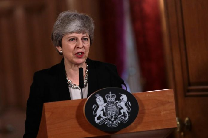 UK's May says greater risk of no Brexit the longer it takes to find compromise