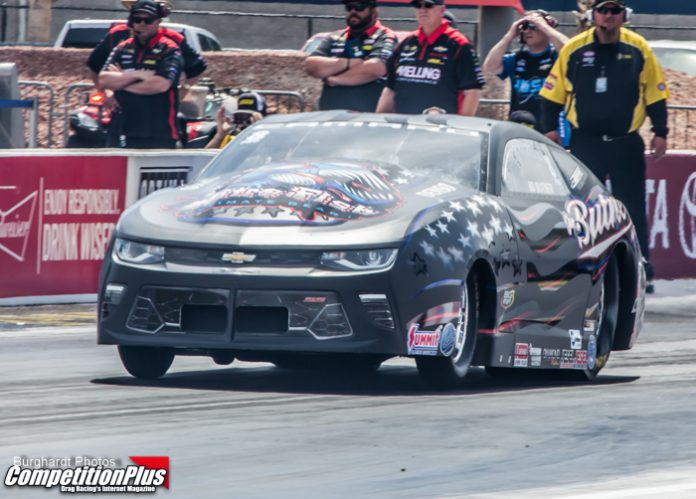 BUTNER, SALINAS, WILKERSON AND M. SMITH NO. 1 QUALIFIERS SATURDAY AT NHRA FOUR-WIDE NATIONALS