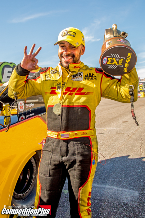 J.R. TODD CAPTURES FUNNY CAR TITLE AT VEGAS FOUR-WIDE NATIONALS