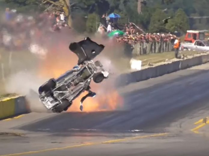 Ford Popular Smashes Into The Wall At Masterton Motorplex