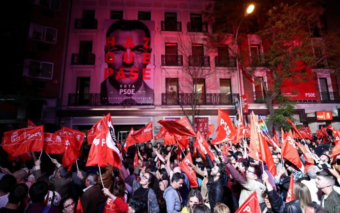 Leftist bloc holds advantage in Spain's election with 95 percent of votes counted