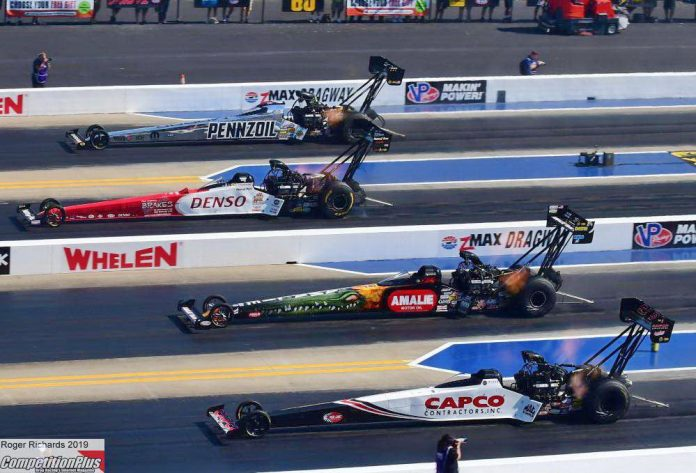 TORRENCE BREAKS INTO TOP FUEL WIN COLUMN WITH THREE-PEAT AT CHARLOTTE