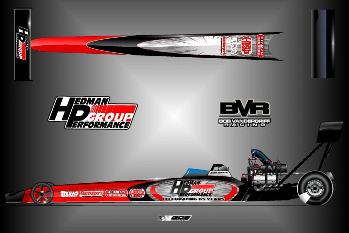 JORDAN VANDERGRIFF TO HONOR HEDMAN'S 65TH ANNIVERSARY ON DRAGSTER