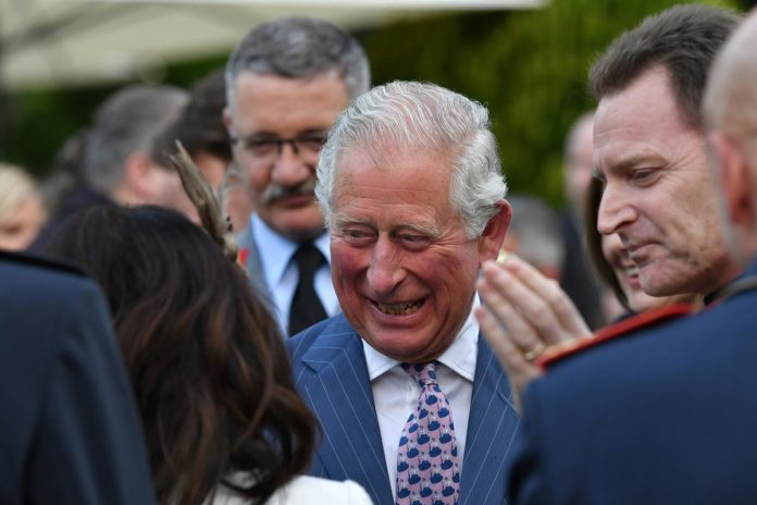 Britain's Prince Charles: joyous to have another grandson