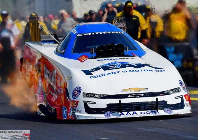 HAND-ME-DOWN JFR CAMARO DOMINATES FUNNY CAR QUALIFYING ON DAY ONE AT RICHMOND