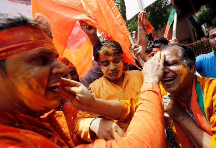 India's PM Modi wins historic general election victory, party says