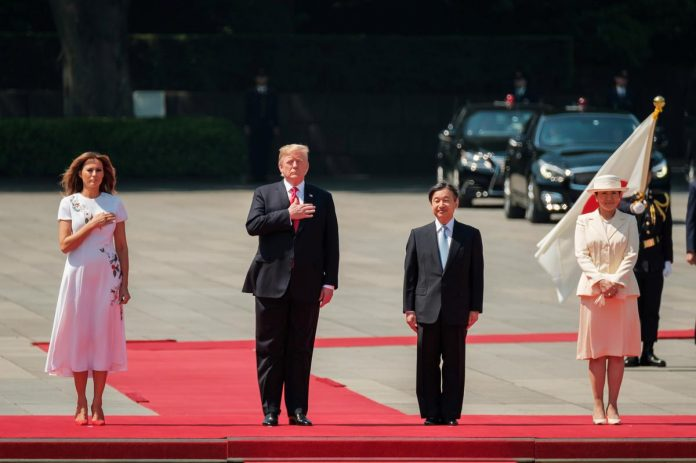 Trump meets Japanese emperor on state visit overshadowed by trade