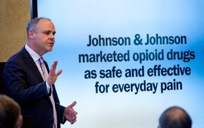 J&J's greed helped fuel U.S. opioid crisis, Oklahoma claims at trial