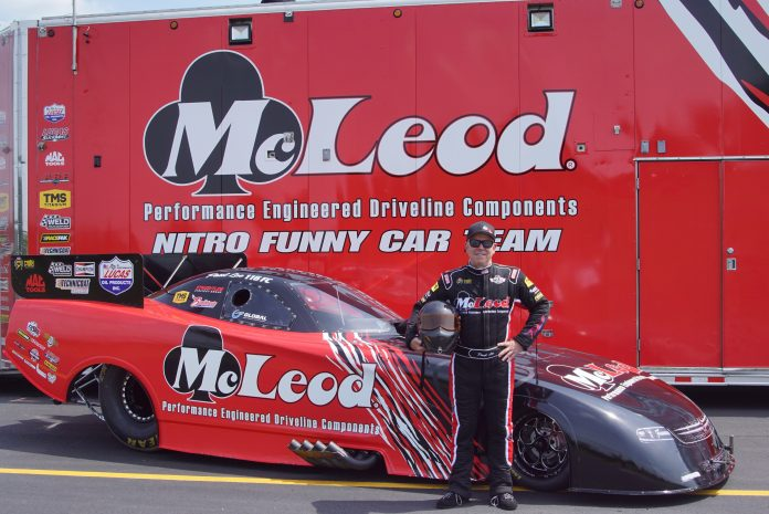 Paul Lee's McLeod Funny Car To Fly DRAGZINE Banner At Chicago