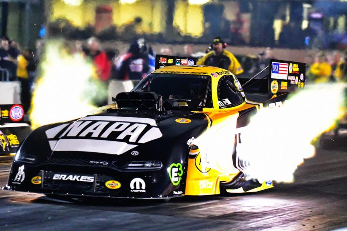CAPPS, SALINAS, LINE AND KRAWIEC PROVISIONAL NO. 1 QUALIFIERS AT ROUTE 66 NHRA NATIONALS