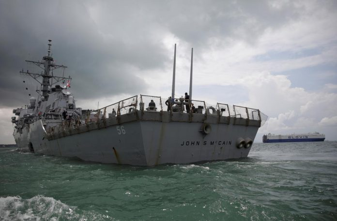 Amid USS McCain controversy, Pentagon says military will not be politicized