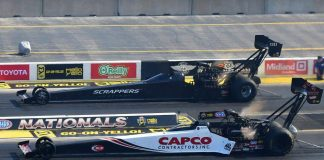 TOP FUEL WINNER TORRENCE SERVES NOTICE: NO RIVALRY, GOT IT?