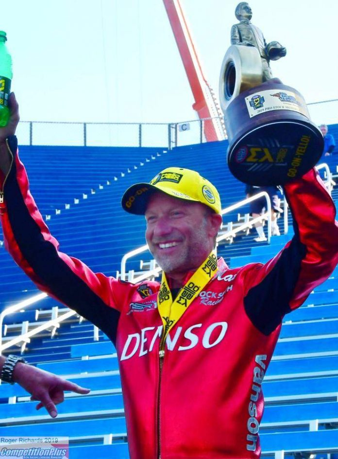 MATT SMITH PREVAILS AT JOLIET ON PRO STOCK BIKE LADIES DAY AT DRAG RACES