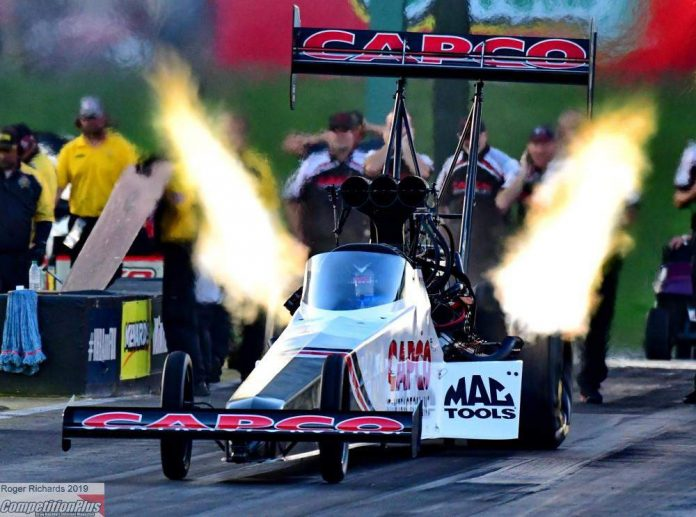 TODD AND S. TORRENCE PROVISIONAL QUALIFYING LEADERS AT NHRA HEARTLAND NATIONALS