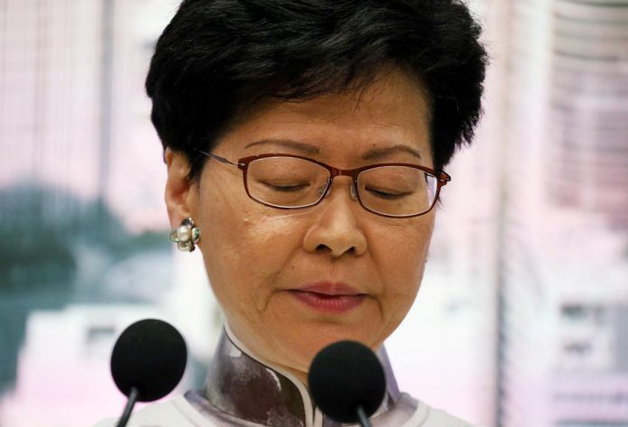 China stands by Hong Kong leader after days of street protests
