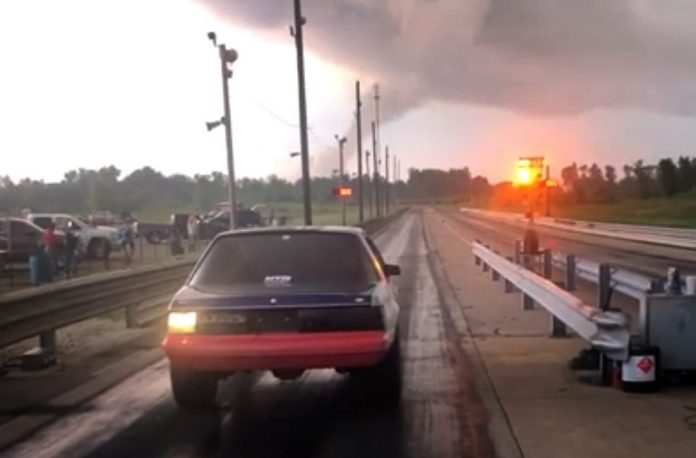 Fed Up With Midwest Weather, Racer Charges Into Possible Tornado