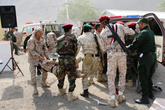 Houthi attack kills more than 30 in Yemen's Aden, Saudi blames Iran
