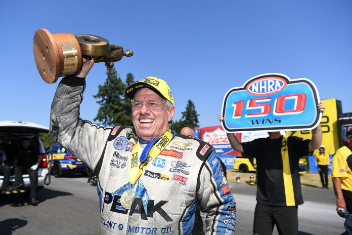 John Force Wins 150th, Celebrates In Most Epic Fashion!