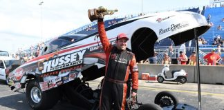SEAN BELLEMEUR IN THE HUNT FOR SECOND TOP ALCOHOL FUNNY CAR CHAMPIONSHIP