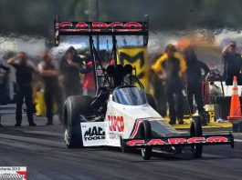 TORRENCE SURPRISED BY CHART-TOPPING LAP AT LUCAS OIL NATS