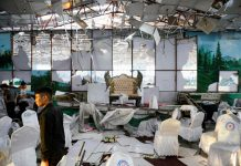 Afghan wedding suicide blast kills 63, amid hopes for talks